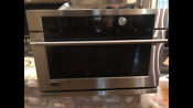 Ge Monogram 27 Stainless Steel Single Electric Advantium Oven Zsc1001kss