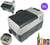 Portable Car Fridge Freezer Cooler Mini Refrigerator Lg Compressor 30l 12v 24v