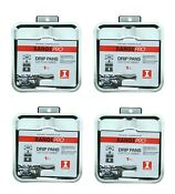 4 Pack Rangepro Kleen Drip Pans Stovetop Heavy Duty Square Chrome I Compatible