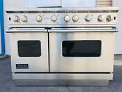 Viking Professional Range Oven Vgcc5486gss Stainless Steel Natural Gas Pls Read