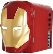 Marvel Ironman Thermo Electric Mini Fridge Cooler Red Gold 4 L