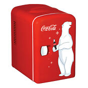 Coca Cola 6 Can Ac Dc Personal Mini Cooler Mini Fridge