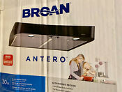 Broan 30 In Convertible Black Undercabinet Range Hood Common 30 Inch Actual