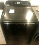 New Open Box Samsung 7 4 Cu Ft 120 Volt Black Stainless Steel Gas Vented Dryer