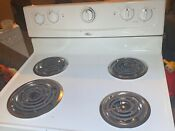 White Whirlpool Stove Electric And Fully Functional
