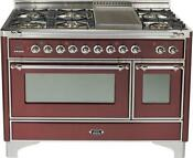 Ilve Um120fdmprbx 48 Dual Fuel Gas Range Double Oven Griddle Price Reduced