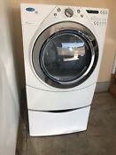 Electric Whirlpool Front Load Dryer With Duet Steam And Pedestal