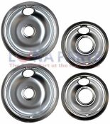 For Kenmore Oven Range Stove Drip Pans Kit 2 6 Inch 2 8 Inch Lk4664212paks760