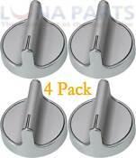 4 Pack W10594481 W10698166 Knob For Whirlpool Stove Range Ap5949868 Ps11756643