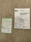 Hard To Find Lg Wm2688h M Owner S Manual Plastic Sheet For Washing Machine