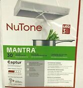 Nutone Mantra Range Hood Convertible Under Cabinet With Light White 30