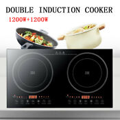 2200w Electric Dual Induction Cooker Countertop Double Burner Cooktop Cooker Top