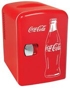Classic Coca Cola Portable Mini Fridge Ac Dc Plugs Included
