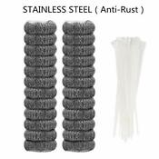 24 Pieces Lint Traps Stainless Steel Never Rust Washing Machine Lint Snare Tr