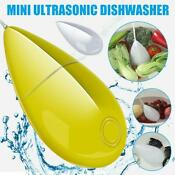 Mini Usb Ultrasonic Dishwasher High Frequency Vibration Clean Fruit Veg Jewelry