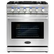 30 In Slide In Freestanding Gas Range With 5 Italian Burners Convection Oven