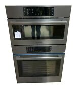 800 30 Black Stainless Steel Electric Combination Wall Oven With Speed Oven C