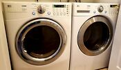 Lg Ultra Capacity Washer Dryer Stainless Steel Quiet Laundry Set