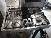 Ge Stainless Downdraft Cooktop With Grilling Unit Jgp9905