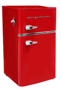 New Red 3 2 Cu Ft Retro Mini Fridge 2 Door Freezer Refrigerator Dorm Office