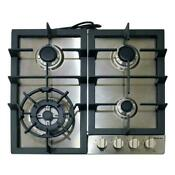 Magic Chef Cooktop 24 4 Burner Gas Stainless Steel Standard Dial Control Nib