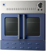 Blue Star Bwo30ags Beo30ags Nat 30 Cobalt Blue French Door Gas Wall Oven