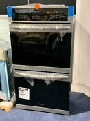 Gallery 27 7 6 Cu Ft Stainless Steel Double Electric Wall Oven Convection