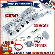 3387747 Dryer Heating Element 279816 Thermostat 279973 3392519 Fuse For Whilpool