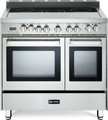 Verona Vefsee365dss 36 Electric Double Oven Range Convection Stainless Steel