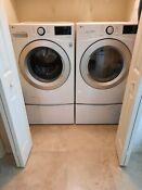 Lg Washer Dryer W Pedestals Front Loading Smart Wi Fi White