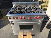 Wolf R366 36 Inch Pro Style Gas Range Natural Gas 6 Burners