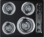 Summit Tel03 24 Coil Electric Cooktop With 4 Coil Elements In Black