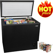 Chest Deep Freezer 7 Cu Ft Frozen Food Storage Ice Fridge With Basket Black New