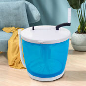 Portable Hand Operated Washing Machine Mini Manual Washer And Dryer Combo Blue