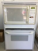 Ge Microwave Oven Combo 27 White Wall Oven Microwave