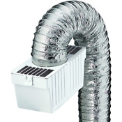 Dryer Lint Trap Kit Flex Flexible Metallic Duct Indoor Venting Clothes Rooms Usa