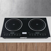 Electric Dual Induction Ceramic Cooker Cooktop Burner 2600w 110v Hot Plate Used