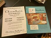 Chambers Built In Electric Double Oven Brochure Late 1950 S