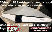 36 Inch Vent A Hood 1933 Retro Design White With Chrome Accents 600 Cfm Ah12236