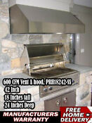 42 Inch Vent A Hood Zth 242 Ss Stainless Steel Kitchen Vent 600 Cfm Warranty
