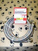 2 Braided Stainless Steel Washing Machine Hoses 5 Foot New Auction 114