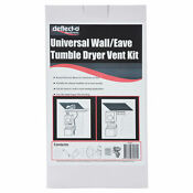 Deflecto Universal Wall Eave Tumble Dryer Vent Kit For Clean Healthier Airflow
