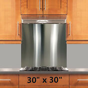 Backsplash Stainless Steel 30x30in Stove Range Hood Wall Shield W Hemmed Edges