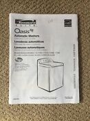 Kenmore Elite Oasis He Washer Washing Machine User Owners Manual 8566938
