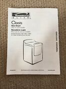Kenmore Elite Oasis Gas Dryer User Owners Instruction Manual W10035180