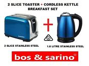 Blue Toaster Kettle Package Quality Stainless Steel Appliance Combo Value Deal