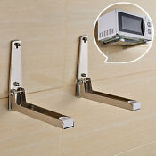Stainless Steel Microwave Oven Adjustable Wall Mounted Bracket Shelf Holder G