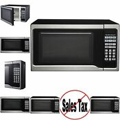 Hamilton Beach 0 7 Cu Ft Stainless Steel Microwave Oven 700w Essential Kitchen