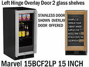 Marvel Ml15bcf2lp 15 Inch Built In Beverage Center Overlay Door Left Hinge
