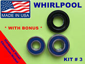Front Load Washer 2 Tub Bearings And Seal Whirlpool Kit 3